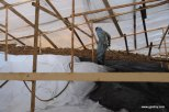 Водоем, производство работ ниже 5 градусов, фото