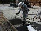 Обеспылевание поверхности (подготовка) и напыление, фото